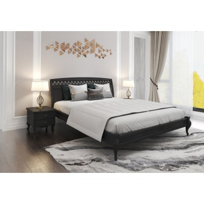 Кровать деревянная Дублин декор 160х200 (венге)
