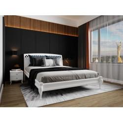 Кровать деревянная Дублин декор 160х200 (белая)