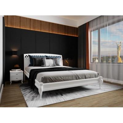 Кровать деревянная Дублин декор 180х200 (белая)