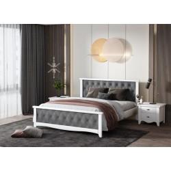 Кровать деревянная Модена 160х200 с мягким изголовьем ArtWood