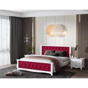 Кровать деревянная Модена 140х200 с мягким изголовьем ArtWood
