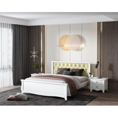 Кровать деревянная Ницца 180х200 с мягким изголовьем ArtWood