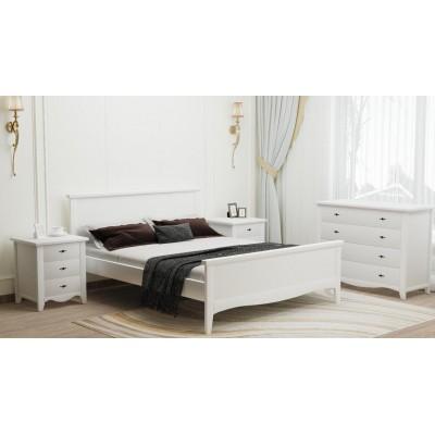 Кровать деревянная Рим 140х200 (белая)
