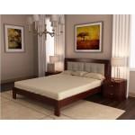 Кровать деревянная Неаполь 160х200 с подушками ArtWood (орех)