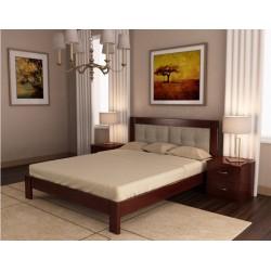 Кровать деревянная Неаполь 140х200 с подушками ArtWood (орех)