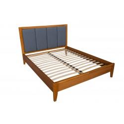 Кровать деревянная Верона 140х200 с мягким изголовьем ArtWood (oрех)