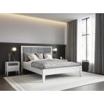 Кровать деревянная 160х200  Верона с мягким изголовьем ArtWood (Белая)