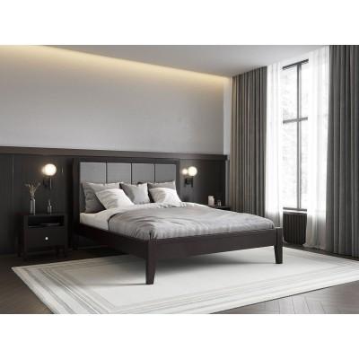 Кровать деревянная Верона 160х200 с мягким изголовьем ArtWood (Венге)