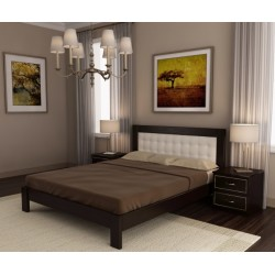 Кровать деревянная 140х200 Бильбао  ArtWood (Венге)