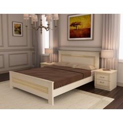Кровать деревянная 160х200 Мадрид №1 ArtWood (Белый)