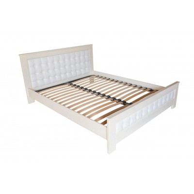 Кровать деревянная Валенсия 180х200  ArtWood (Белая)